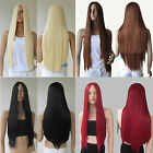 Fashion Long Straight Wig Heat Resistant Hair No Bang Cosplay Costume Full Wigs