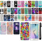 For Samsung Galaxy S6 Edge G925 PATTERN HARD Protector Back Case Cover + Pen
