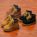 Kids Babys Winter Warm Leather Boots Outdoor Waterproof Snow Martin Board Boots