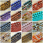 agate pink - Natural Gemstones Faceted Round Spacer Loose Beads 15.5'' 4mm 6mm 8mm 10mm 12mm