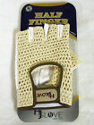 HJ Glove Half Finger Glove Men Left Tan/wht SINGLE INDIVIDUAL GLOVE NEW