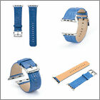 Navy Luxury Crocodile Real Leather Wrist Band Strap Belt For Apple Watch 42/38mm