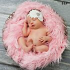 Newborn Baby Soft Faux Fur Photography Props Background Backdrop Blanket Rug NEW