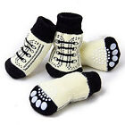 Home Puppy Dog Socks Design Winter Warm Soft Skidproof Shoes S-XL 4Pcs