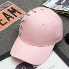 Kpop G-Dragon Jay Park Style Baseball Ball Cap Hat With Pin/Iron Ring Ajustable