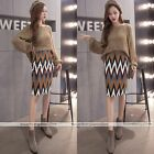Women Hight Waist Bodycon Printed Split Stretchy Straight Pencil Midi Skirt #01