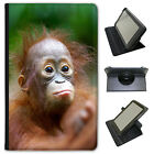 Orangutan Monkey Primates Animal Universal Leather Case For Samsung Tablets