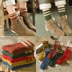 5Pairs Womens Cashmere Wool Thick Warm Socks Winter Fashion Striped Design Lot