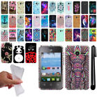 For Alcatel OneTouch Pixi Glitz A463BG Cute Design TPU SILICONE Case Cover + Pen