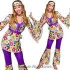 K269 Ladies 60s 70s Go Go Retro Hippie Dancing Groovy Disco Fancy Dress Costume