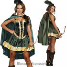 K277 Ladies Robin Hood Thief Huntress Warrior Fancy Dress Up Halloween Costume