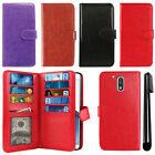 "For Motorola Moto G4/ G4 Plus 5.5"" XT1625 XT1644 Card Wallet Cover Case + Pen"