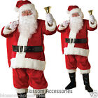 C880WB Deluxe Plush Santa Suit Christmas Fancy Dress Adult Costume + Wig & Beard