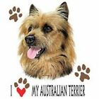 Australian Terrier Love T Shirt Pick Your Size 7 X Large to 14X Large