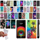 For LG X Power LS755 US610 K450 K210 K6 Cute Design TPU SILICONE Case Cover +Pen