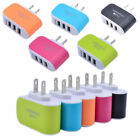 10X Lot 3.1A Triple USB 3 Port Wall Home Travel AC Charger Adapter US/EU Plug