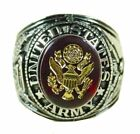 Made in USA New Silver Plated Army Signet Ring-Military-Sizes 7-15