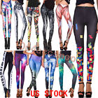 Fast Shipping Women Ankle Pant Galaxy Leggings Sexy Trousers Yoga Pants US STOCK