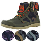 Palladium Pallabrouse Baggy Men's Canvas Combat Ankle Boots Fold Over Cuff