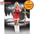 K291 Ladies Santa Claus Party Christmas Xmas Fancy Dress Up Costume Outfit