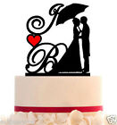 Wedding Cake Topper Custom with 2 Initial and your choice of color