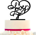 Custom Wedding LOVE Cake Topper you and me with FREE STAND, Removable Spikes