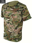 Highlander Mens Camo T-Shirt British Army Combat Mtp Multicamo Camouflage New