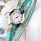 Delicate Hot! 2016 wtach women New Jewelry  1PC Leather Strap Braided winding Ri