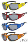 3 Pairs Combo Choppers Sports Biker Motorcycle Riding Glasses Sunglasses - C51