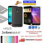 "COVER CASE CUSTODIA IN GOMMA NATURE per ASUS ZENFONE GO 5.5"" ZB551KL + PEL VETRO"