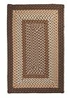 Tiburon Indoor Outdoor Rectangle Braided Rug, Dockside ~ Made in USA