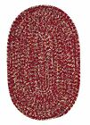West Bay Soft Chenille Oval Braided Rug, Sangria Red Tweed ~ Made in USA