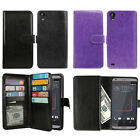 For HTC Desire 530 630 Flip Magnetic Card Holder Wallet Cover Case + Pen