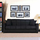 BAJA Stylish Comfortable Microfiber Convert-a-Couch Sleeper Sofa Bed PICK COLOR