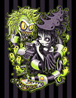 Strange and Usual by Jehsee Beetlejuice Monster Halloween Canvas Fine Art Print