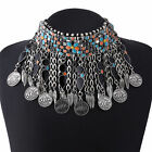 Bohemia Beads Charm Rhinestone Chain Alloy Collar Choker Statement Bib Necklace