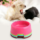 Plastic Candy Color Utensils Pet Dog Puppy Cat Bowl Food Drink Water Bowl Dish
