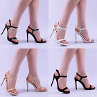 womens ladies mid high stiletto heel party strappy occasion wedding shoes size