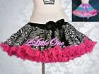 Satin Zebra Pettiskirt Petticoat Dance Tutu Birthday Skirt Girl Size 2T-7 PP003A