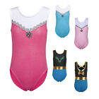Kids Girls Gem Ballet Dance Gymnastics Leotards Sport Dancewear Unitards 3-12Y