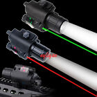 Combo CREE Q5 LED Flashlight&Red/Green Laser Sight 20mm  Rail for Rifle Hunting