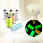 1000/3000 Yard Spool Luminous Glow In The Dark Embroidery Sewing Thread Home DIY