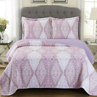 Reversible Jewel Oversized Coverlet Luxury Microfiber Wrinkle Free Chic Style image