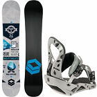 FTWO F2 Reverse Snowboard + D-Vision Bindung Snowboardset All-Mountain Freestyle