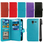 For Kyocera Hydro View C6742/ C6743/ Shore Card Holder Wallet Cover Case + Pen