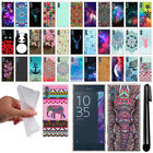 For Sony Xperia XZ F8331 Cute Design TPU SILICONE Soft Case Phone Cover + Pen