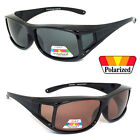 POLARIZED Anit Glare Square Lens Cover Fit Over Glasses Sunglasses UV Protect