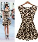 New Summer Womens Sexy Leopard Casual Evening Cocktail Party Ladies Mini Dress