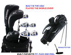 AGXGOLF BOYS LEFT HAND NXT COMPLETE GOLF SET wDRIVER+3WD+HYBRID+IRONS+BAG+PUTTER