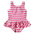 Kids Baby Girls Pink Stripe Bikini Swimsuit Swimwear Bathe Swimming Costume 1-6Y